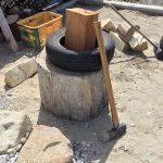 薪割り台の高さについて
